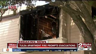 Tulsa apartment fire prompts evacuations