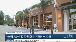 Gyms reopening across San Diego with changes