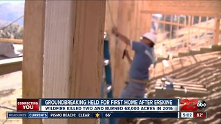 Rebuilding homes destroyed by the Erskine Fire