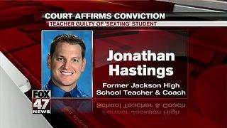 Teacher guilty of sexting student