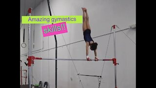 Amazing gymnastic skills!