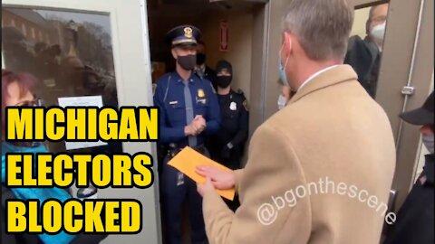 Michigan Electors Blocked From Capitol