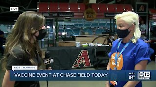 COVID-19 vaccination event today at Chase Field