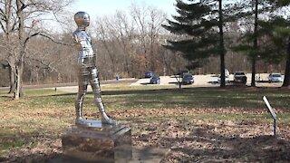 Outside Art Museum Silver Man