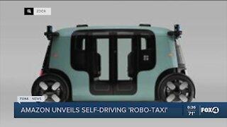 Amazon reveals self-driving robo-taxi