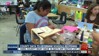 Governor: County data to determine if schools reopen