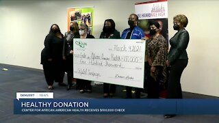 The LINKs donates $100,000 to the Center for African American Health