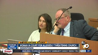 Woman charged in church threat case