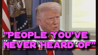 9/1/20 Trump Alludes to Shadow Government