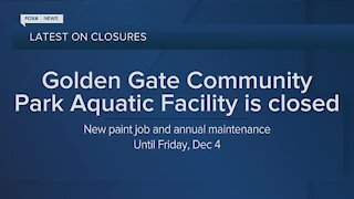 Golden Gate Community Park aquatic facility closed for maintenance