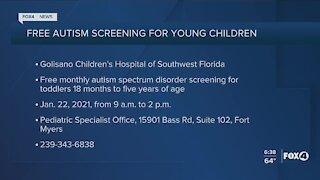 Free autism screenings