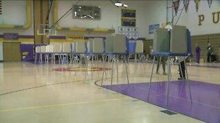 Voting at Washington High School