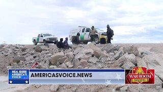 Live Footage of Illegal Immigrants Crossing Biden's Open Border