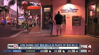 ATM users could get surprise bonus at downtown Fort Myers bank New Year's Eve