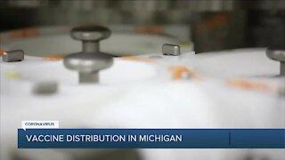 COVID-19 vaccine distribution in Michigan