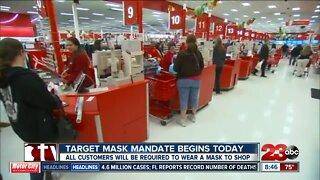 Target mask mandate begins today