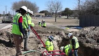 Directorate of Public Works repair main water line leak
