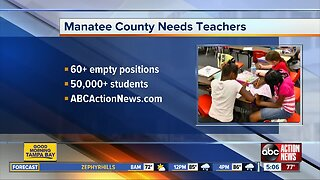 Manatee County School District still needs teachers for 2019-2020 school year