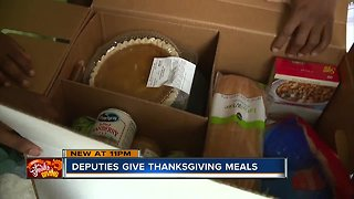Pinellas County deputies drop off Thanksgiving meals to dozens of families