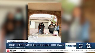 Duo feeds families through holidays