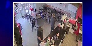 Man steals hand sanitizer from restaurant