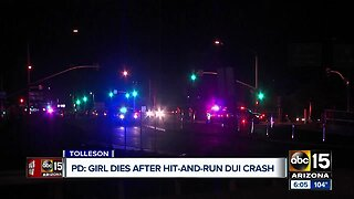 Girl dies after hit-and-run crash