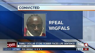 Family Dollar robber faces mandatory life sentence