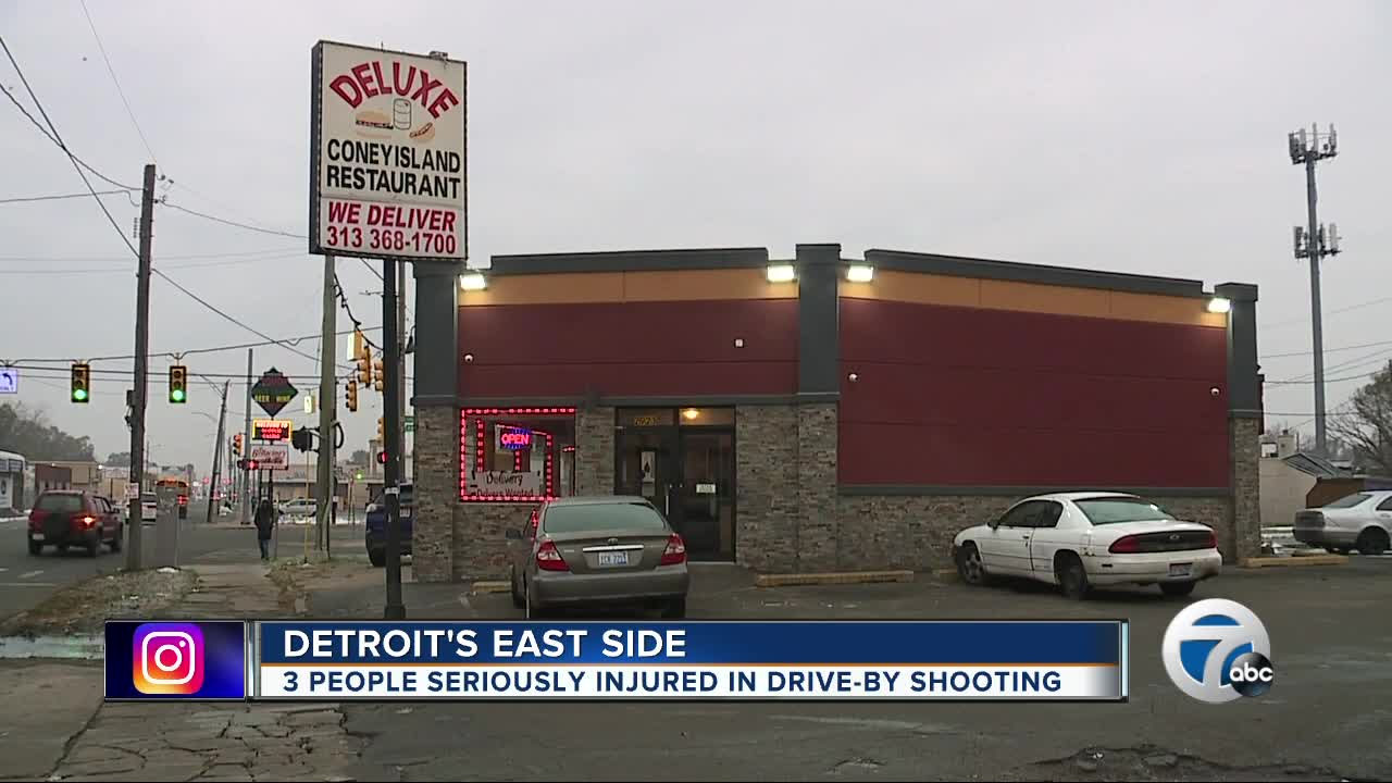 3 people shot leaving Detroit coney island