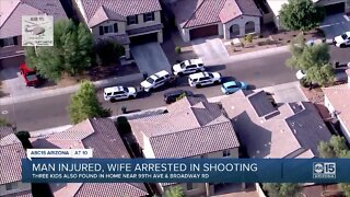PD: Man injured, wife arrested in Phoenix shooting