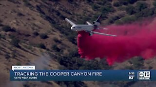 Copper Canyon Fire burns 1,300 acres, forces US60 closure near Globe