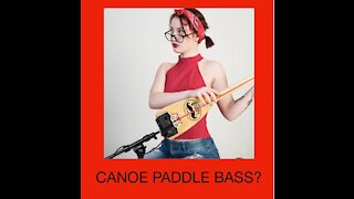Unboxing And Playing A Bass Guitar That Was Made From A Canoe Paddle