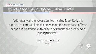 Democrat Kelly tops Republican McSally for Arizona Senate seat
