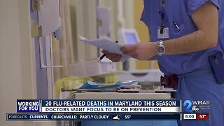 20 flu-related deaths in Maryland; doctors warn about prevention