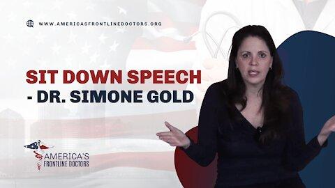 Sit Down Speech - Dr. Simone Gold