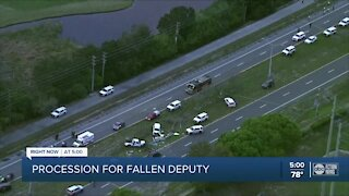 Procession has just ended for fallen Pinellas deputy