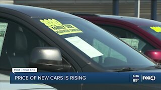 New car prices surging