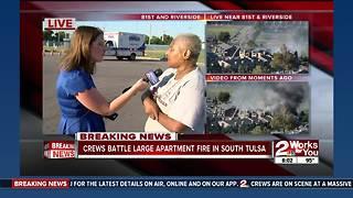 Fire crews battle south Tulsa apartment fire