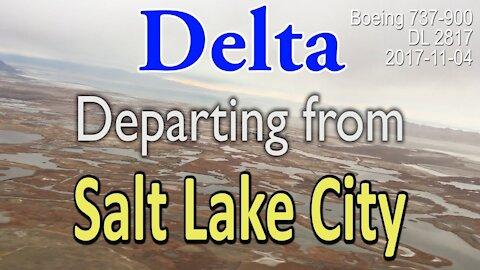 Delta flight departing from Salt Lake City in Boeing 737-900 (#DL2817)
