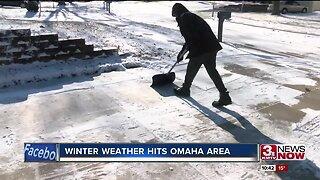 Winter Weather Hits Omaha Area