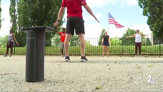 Baltimore fitness studio moves classes outdoors while waiting for next phase of reopening