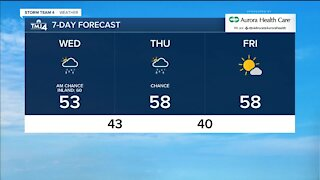 Mostly cloudy, breezy Wednesday