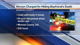 Metro Detroit woman charged for hiding boyfriend's death