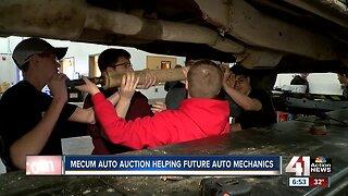 Mecum car auction helps future auto mechanics