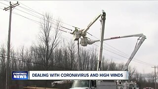 Dealing with coronavirus and high wind