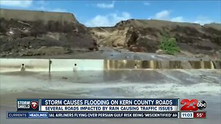 Heavy rainfall leads to flooding throughout Kern County