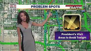 Traffic alert ahead of President Trump's rally in Las Vegas
