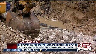 Bridge repairs in Sand Springs to begin after May floods