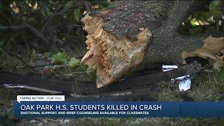 Oak Park High School students killed in crash