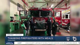 Restaurants thanking Chula Vista firefighters with meals