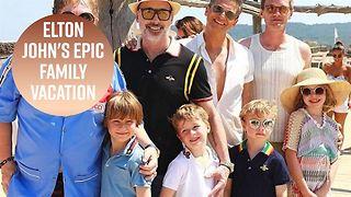 Elton John & Neil Patrick Harris go on family vacation